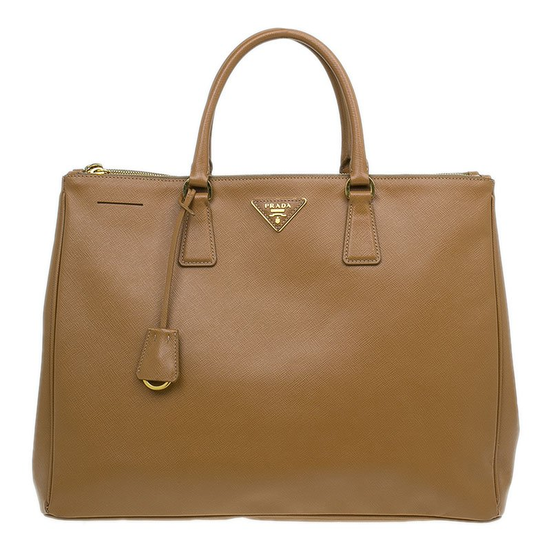 e9efbb64468a ... Prada Caramel Saffiano Lux Leather Large Double Zip Tote Bag. nextprev.  prevnext