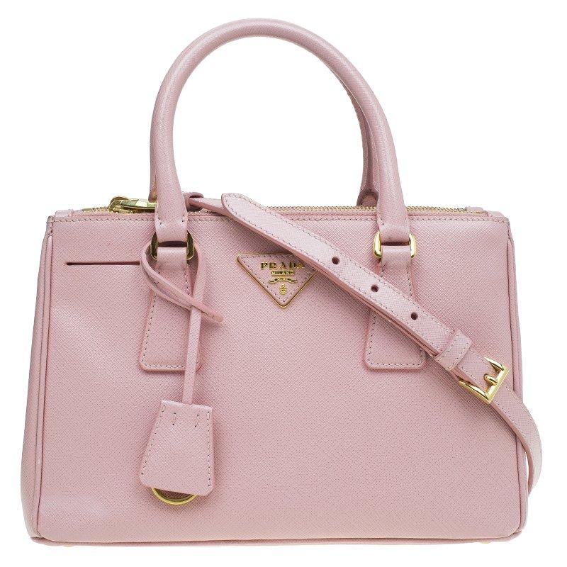 faeffaf4a64c ... Prada Pink Saffiano Lux Leather Mini Double Zip Tote. nextprev. prevnext