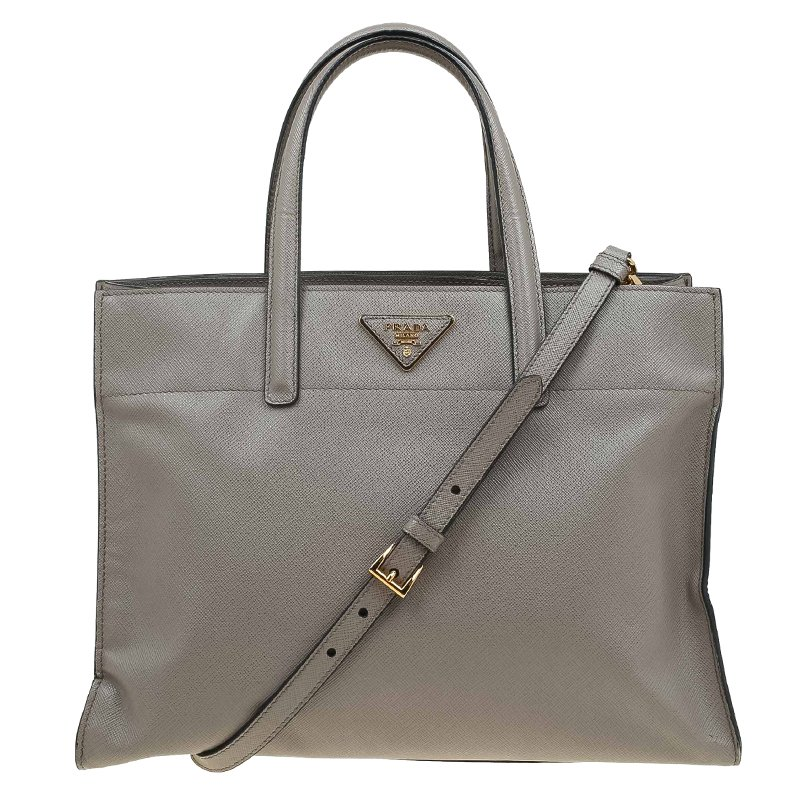 2324d0f0353e Buy Prada Beige Saffiano Soft Leather Tote Bag 63669 at best price | TLC