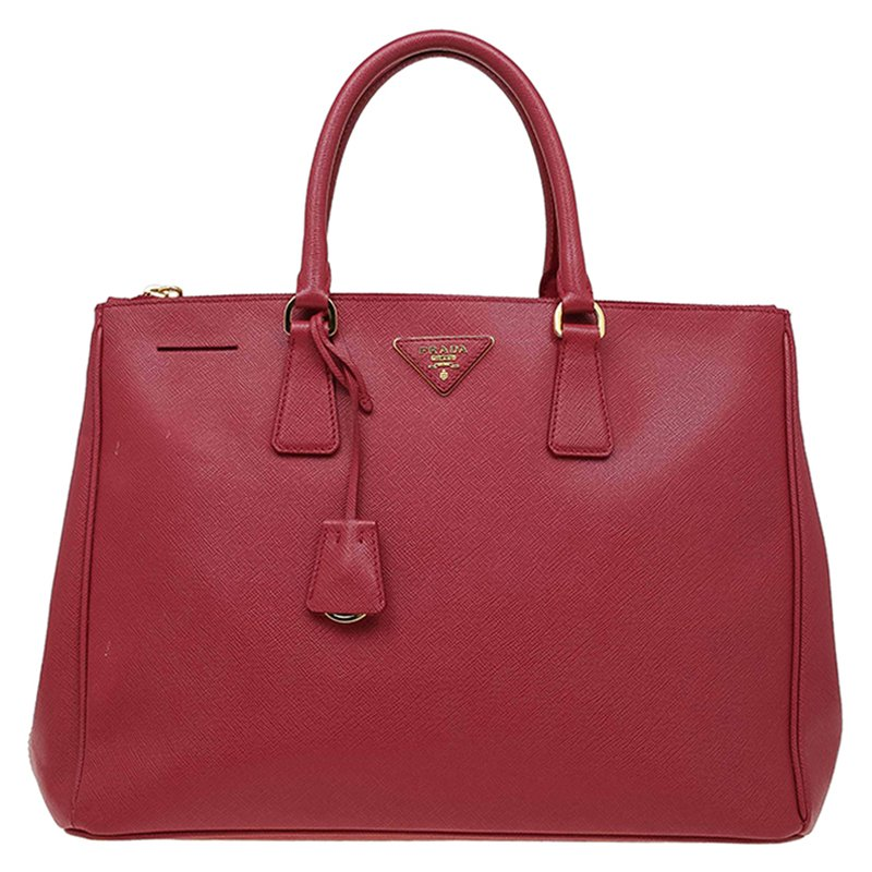 87ad3dfeed4f ... Prada Red Saffiano Lux Leather Large Double Zip Tote. nextprev. prevnext