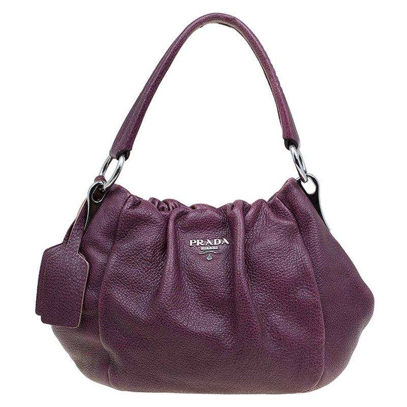 f8b263222604c1 Buy Prada Purple Deer Skin Leather Hobo 79329 at best price | TLC