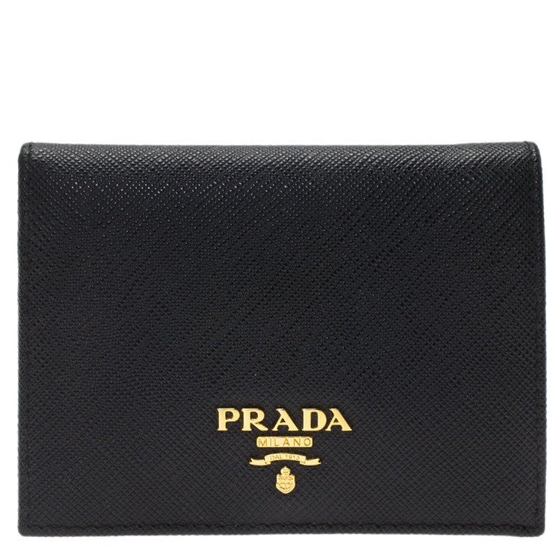 195ab4234d ... Prada Black Saffiano Leather Mini Bifold Wallet. nextprev. prevnext