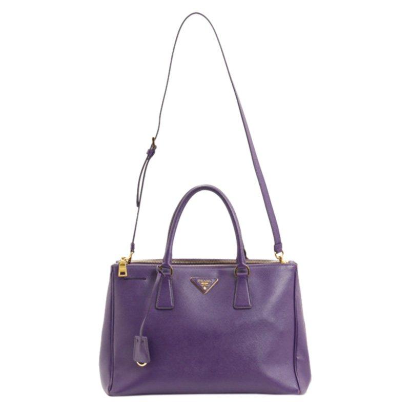 6a06810138f0 ... Prada Purple Saffiano Lux Double Zip Tote Bag. nextprev. prevnext
