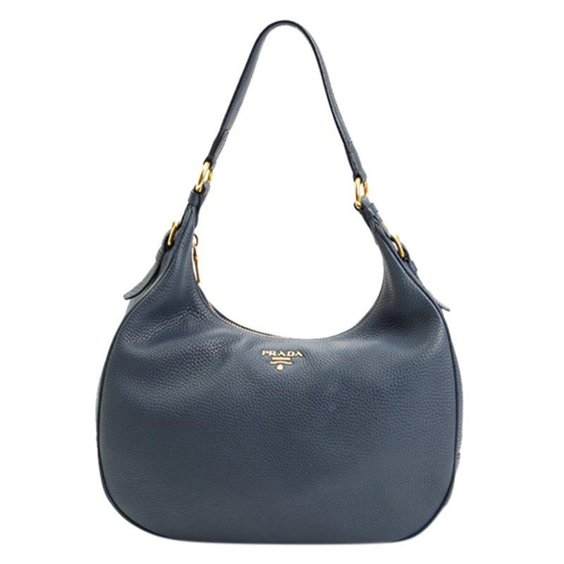 f5c08feee1f5 Buy Prada Blue Vitello Daino Hobo Bag 80958 at best price   TLC