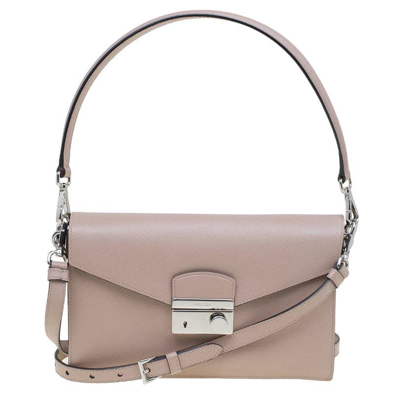 e4f00cb9b0e5 Buy Prada Beige Saffiano Lux Leather Mini Sound Flap Bag 83338 at ...