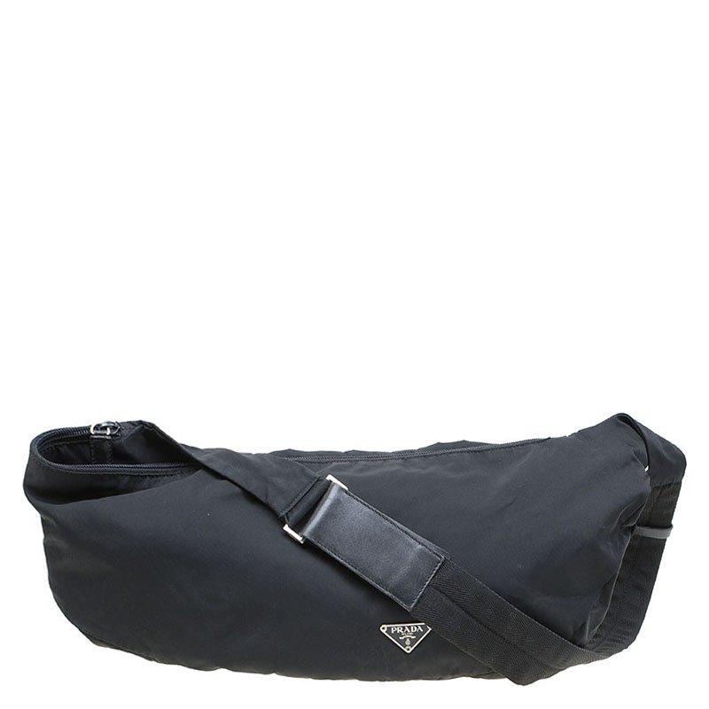 fc8e1a25 Prada Black Nylon Fanny Pack Bag
