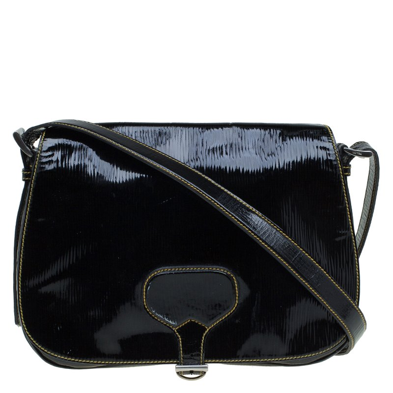 99056087faa259 ... Prada Black Patent Leather Flap Crossbody Bag. nextprev. prevnext