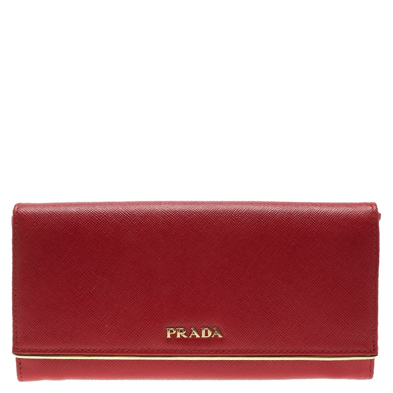 698143f2e323 ... Prada Red Saffiano Metal Leather Detail Organizer Wallet. nextprev.  prevnext