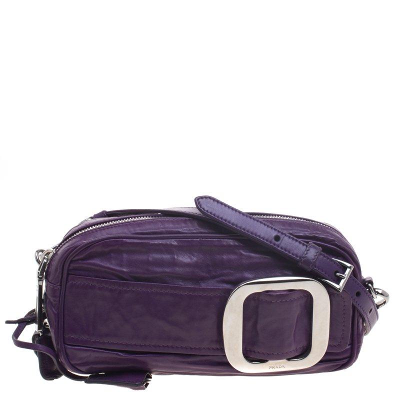 2a574f6703 ... Prada Purple Nappa Antique Leather Shoulder Bag. nextprev. prevnext
