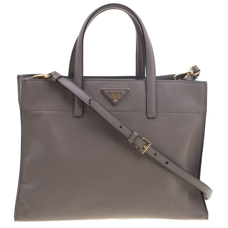 d1f190dd76 Buy Prada Beige Saffiano Soft Leather Tote 95614 at best price