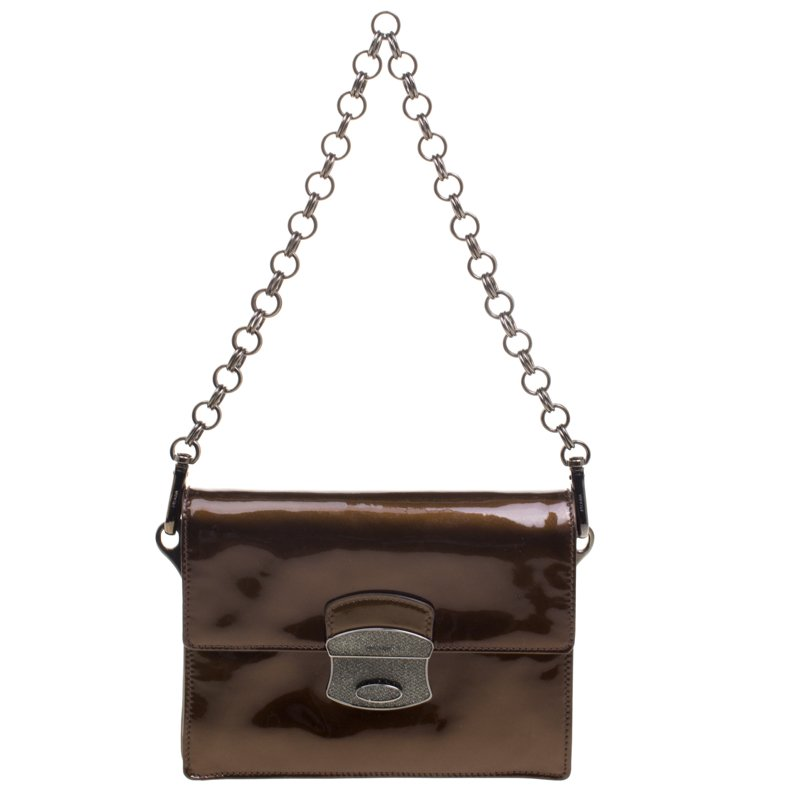 cbe523179635 ... Prada Fatigue Green Patent Leather Mini Shoulder Bag. nextprev. prevnext
