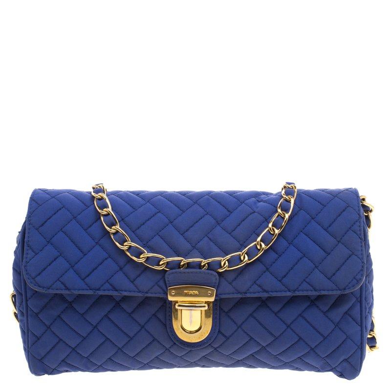 0d7cb1679fa6 ... Prada Blue Woven Tessuto Impuntu Shoulder Bag. nextprev. prevnext