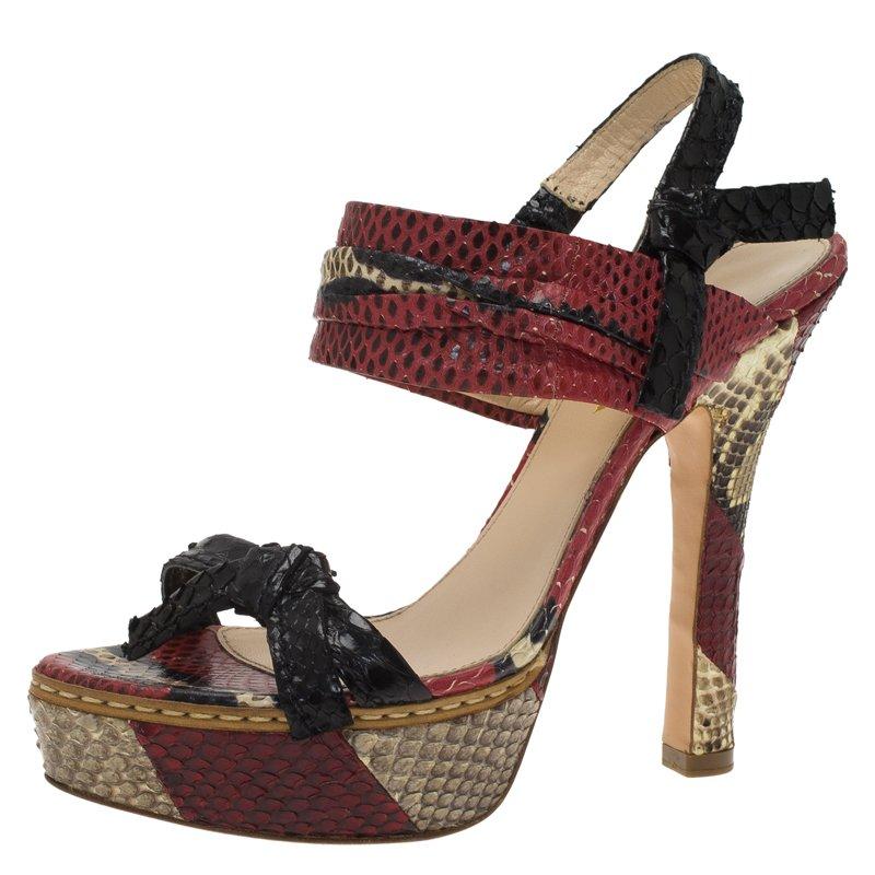9bef0665160 ... Prada Red Python Bow Platform Sandals Size 36. nextprev. prevnext