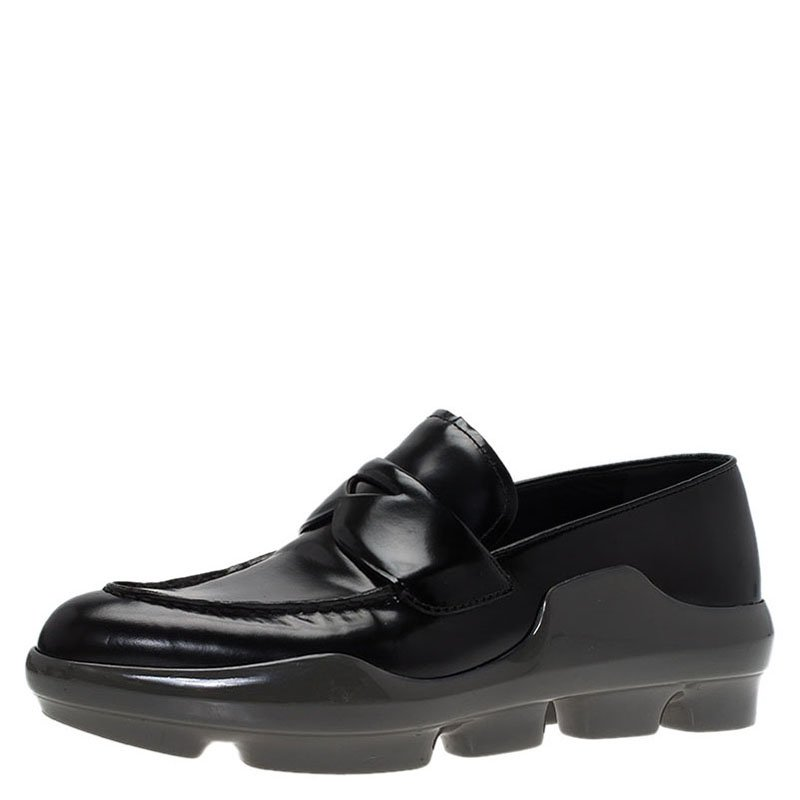 c1d5e277e39 ... Prada Black Leather Platform Penny Loafers Size 39. nextprev. prevnext