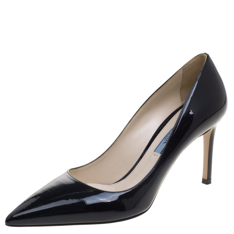 75e7e1711f ... Prada Black Patent Leather Pointed Toe Pumps Size 37. nextprev. prevnext