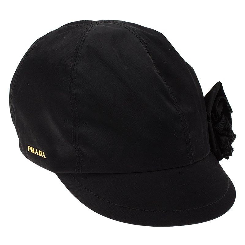 Buy Prada Black Nylon Baseball Cap Size M 79535 at best price  3dc346154d4e