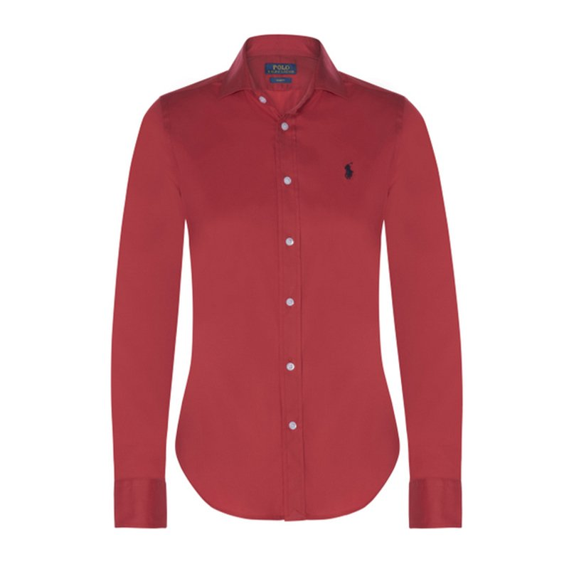 Polo Ralph Lauren Red Logo Long Sleeve Shirt M
