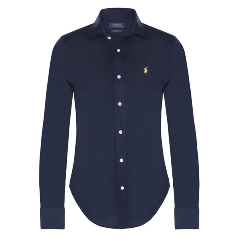 Polo Ralph Lauren Navy Blue Logo Long Sleeve Shirt M