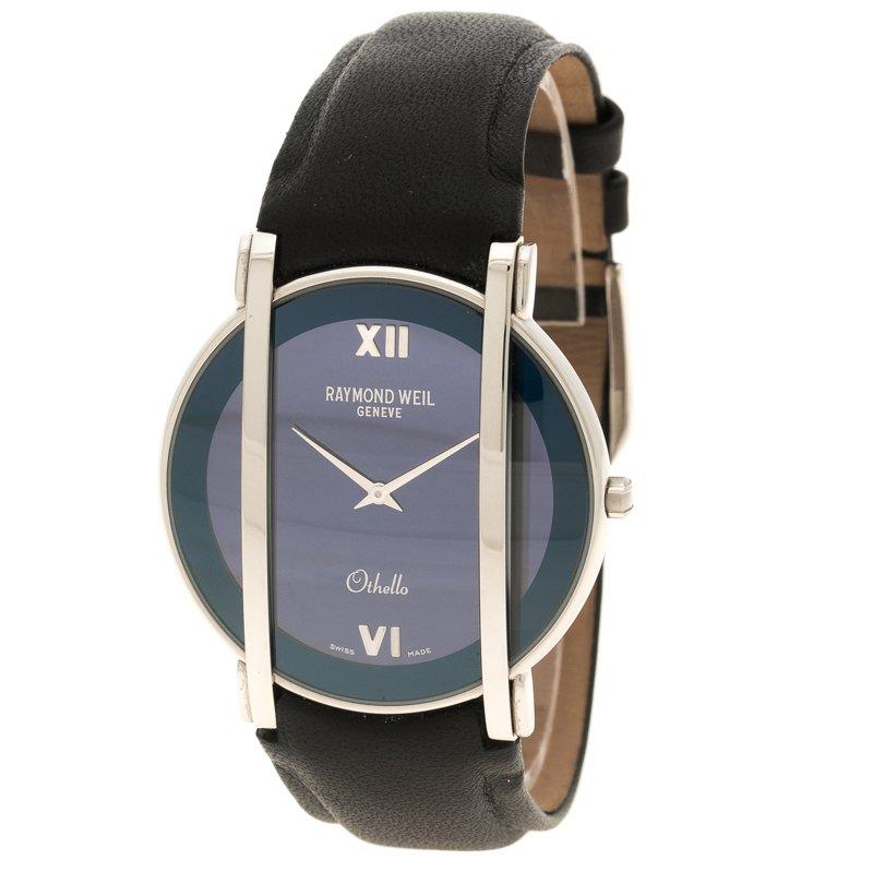 Buy Raymond Weil Blue Othello Leather Women S Wristwatch 37mm 110415