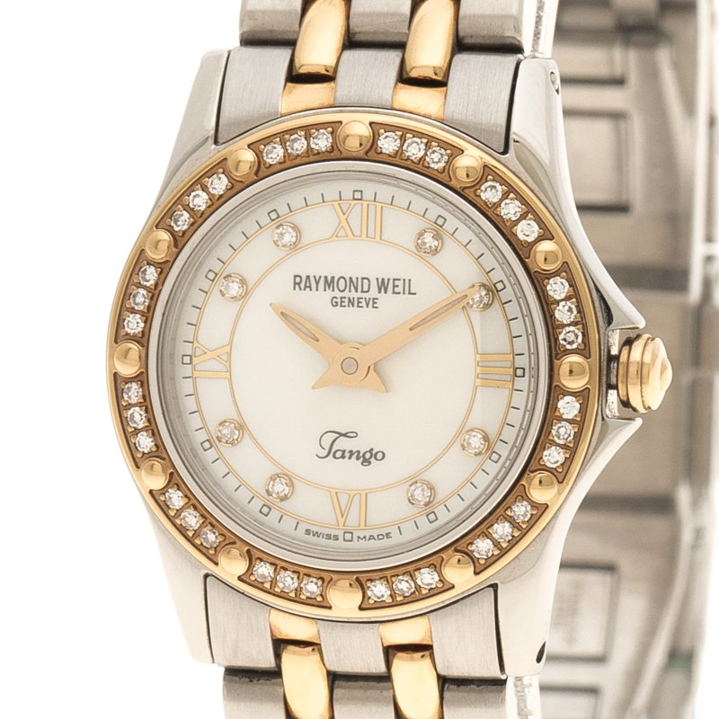 Buy Raymond Weil Mother Of Pearl Tango Stainless Steel Women S
