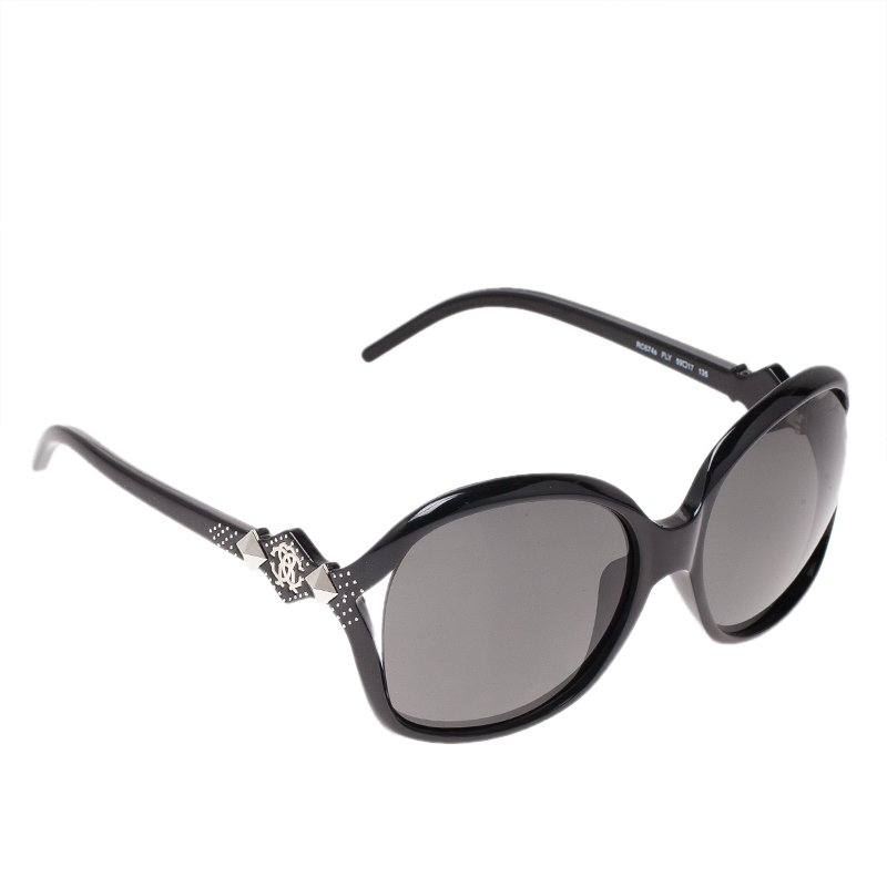 fd589da748a Buy Roberto Cavalli Black 674S Fly Sunglasses 49344 at best price