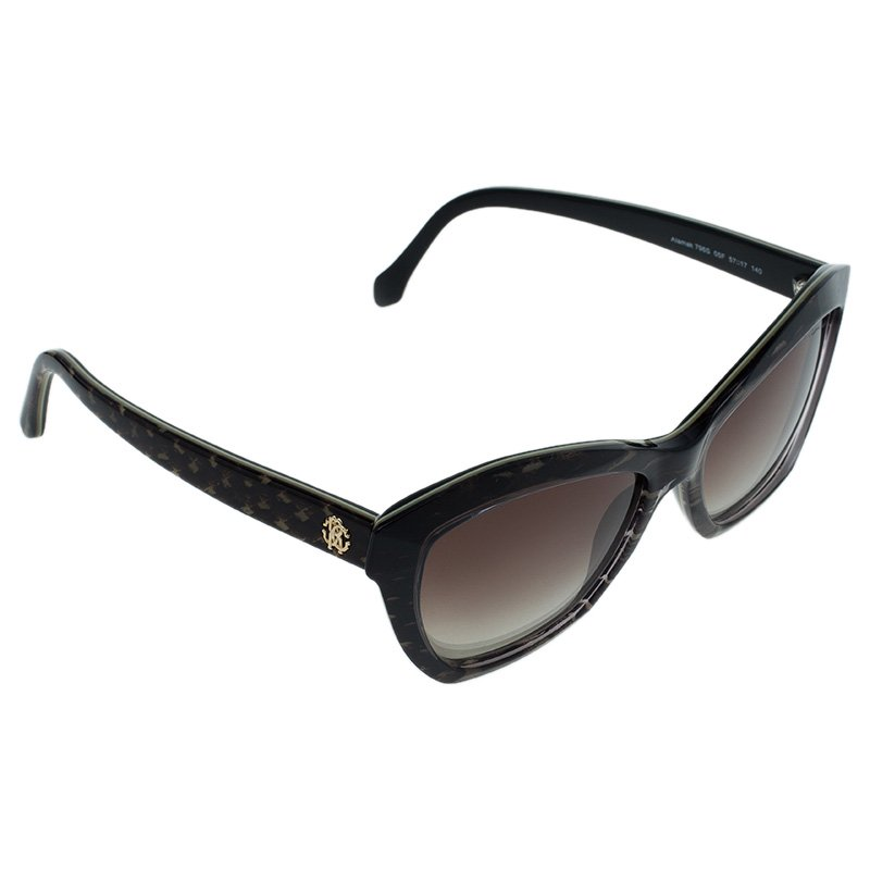Roberto Cavalli Brown Alamak Butterfly Sunglasses