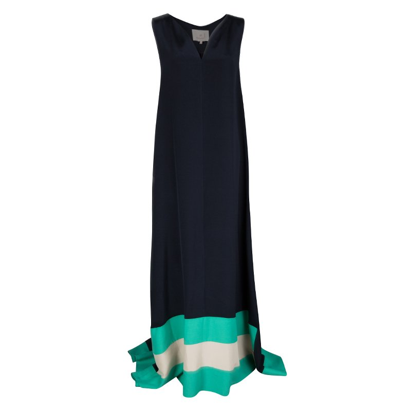 Roksanda Ilincic Colorblock High Low Sleeveless Maxi Dress L