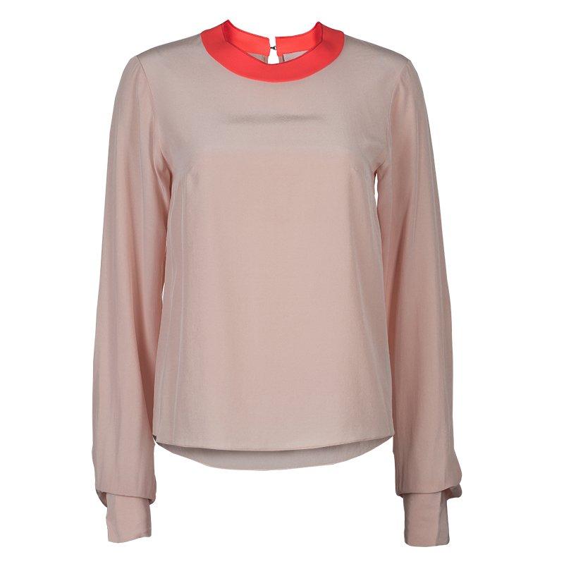 Roksanda Ilincic Light Pink and Neon Detail Blouse S