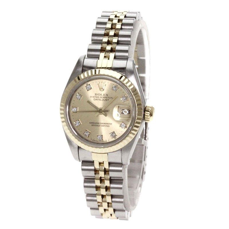 0a58378ca25c7 إشتري ساعة يد نسائية رولكس ديت جست ذهب أصفر عيار 18 وستانلس ستيل بيج ...