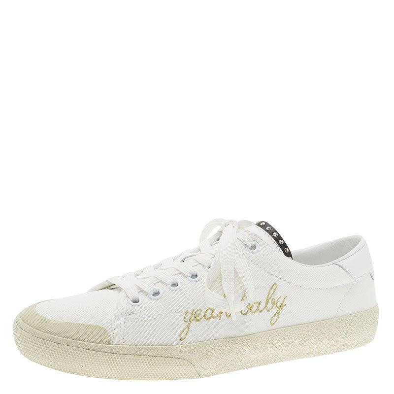f1d2c6b1685 ... Saint Laurent Paris Off White Signature Court Classic Yeah Baby Low Top  Sneakers Size 39. nextprev. prevnext