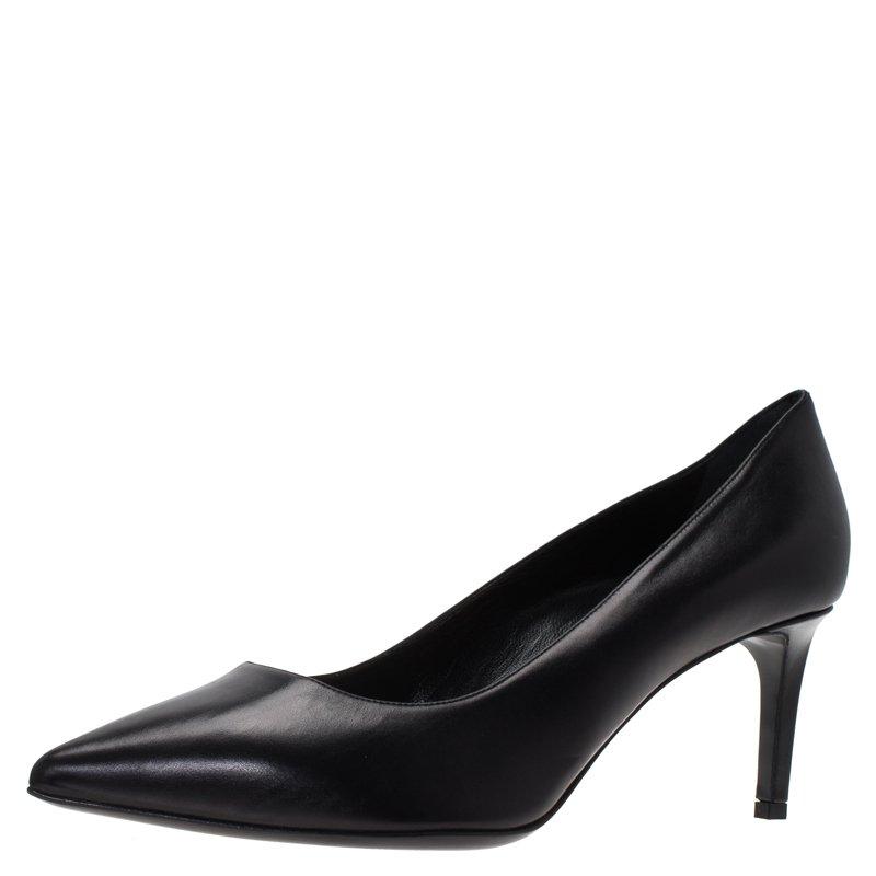 09ab61d151 ... Black Leather Classic Pointed Toe Pumps Size 39.5. nextprev. prevnext