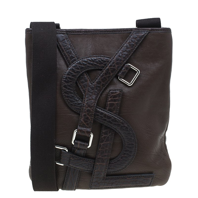 9d632186c7 Buy Saint Laurent Paris Brown Leather Small Vavin Messenger Bag ...