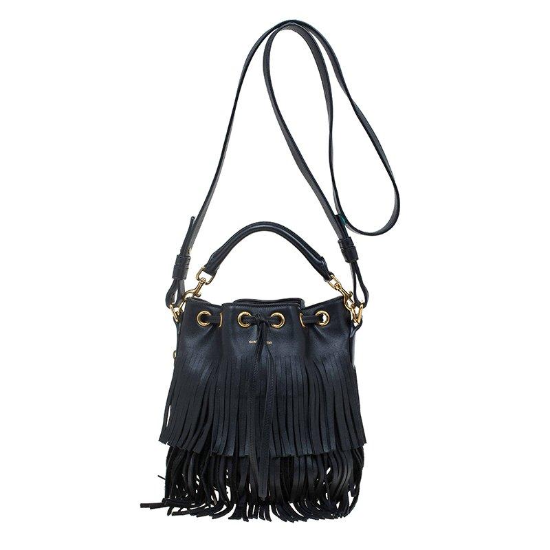 939d0db454 ... Saint Laurent Paris Black Leather Small Emmanuelle Fringed Bucket Bag.  nextprev. prevnext