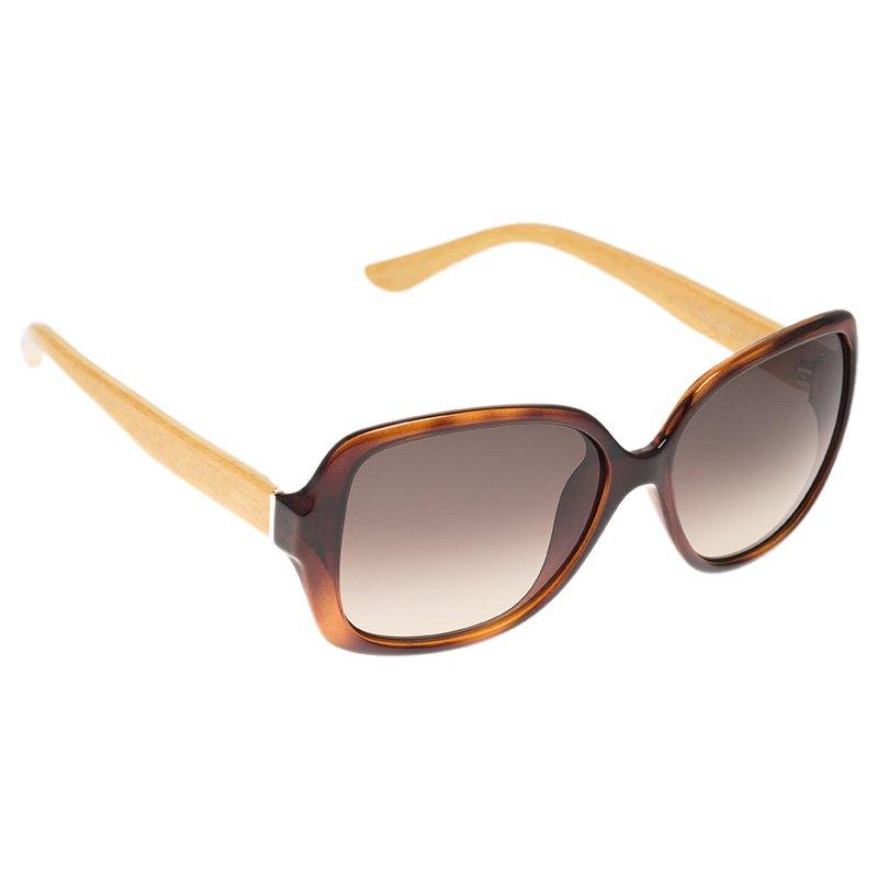 c2feb19639 Buy Salvatore Ferragamo Tortoise and Yellow SF715S Square Sunglasses ...