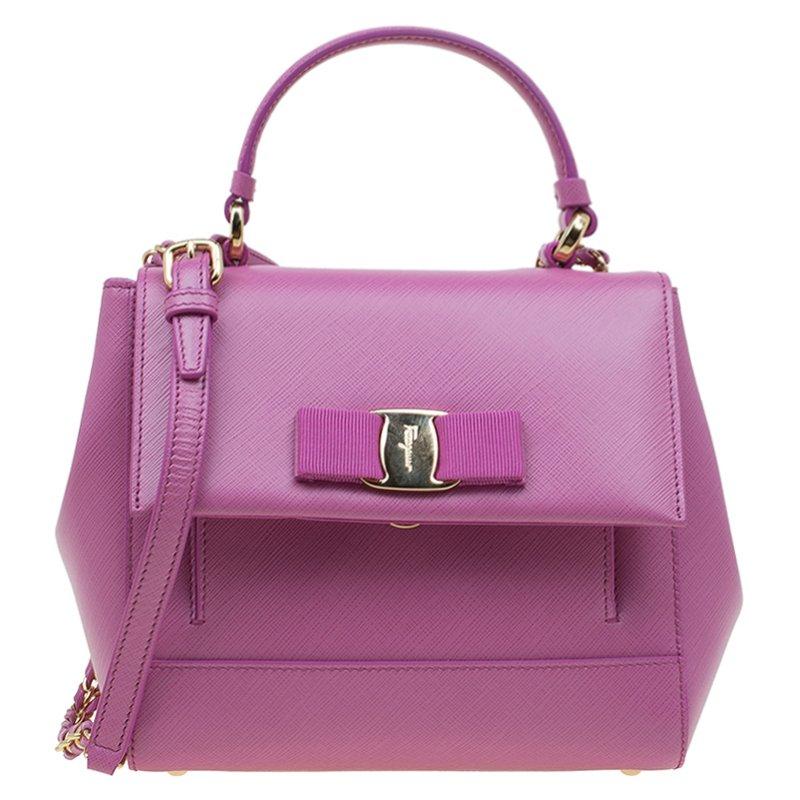 42da15c84b ... Salvatore Ferragamo Anemon Pink Leather Carrie Top Handle Bag.  nextprev. prevnext
