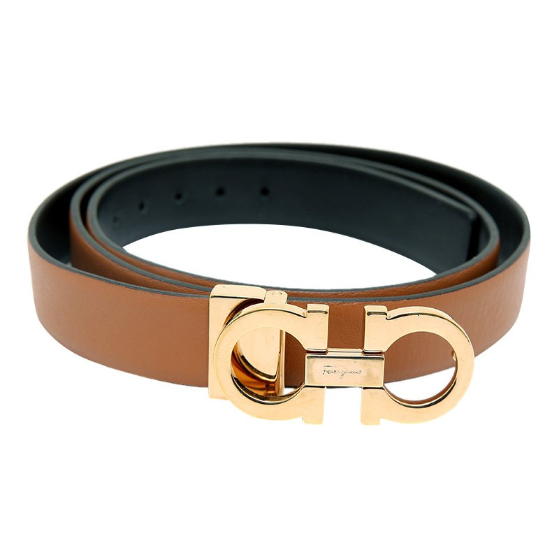 33ed4e3ad ... Salvatore Ferragamo Brown/Black Leather Reversible Gancini Buckle Belt  105 CM. nextprev. prevnext