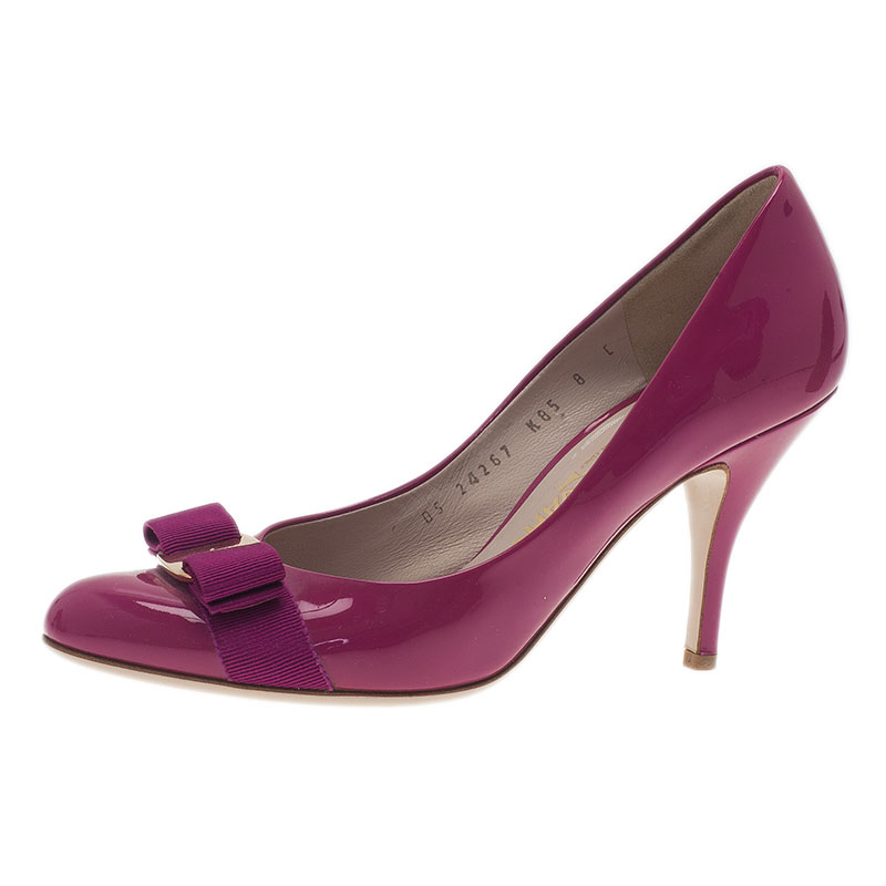 bbf1645b7a1d ... Salvatore Ferragamo Pink Patent Carla Pumps Size 39. nextprev. prevnext