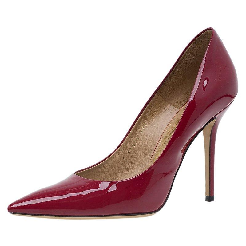 ee4e3e4f6ff Buy Salvatore Ferragamo Red Patent Susi Pointed Toe Pumps Size 40 ...