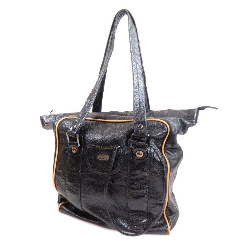 See By Chloe Black Leather Charm Shopper Tote