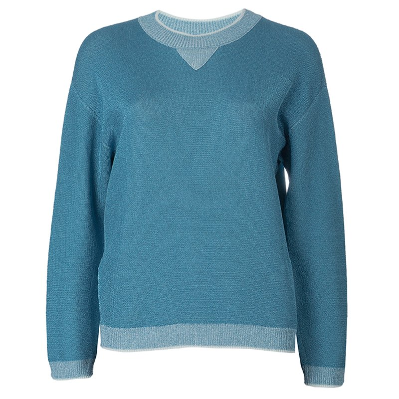 Buy Sonia Rykiel Blue Shimmer Sweater S 56398 At Best Price Tlc
