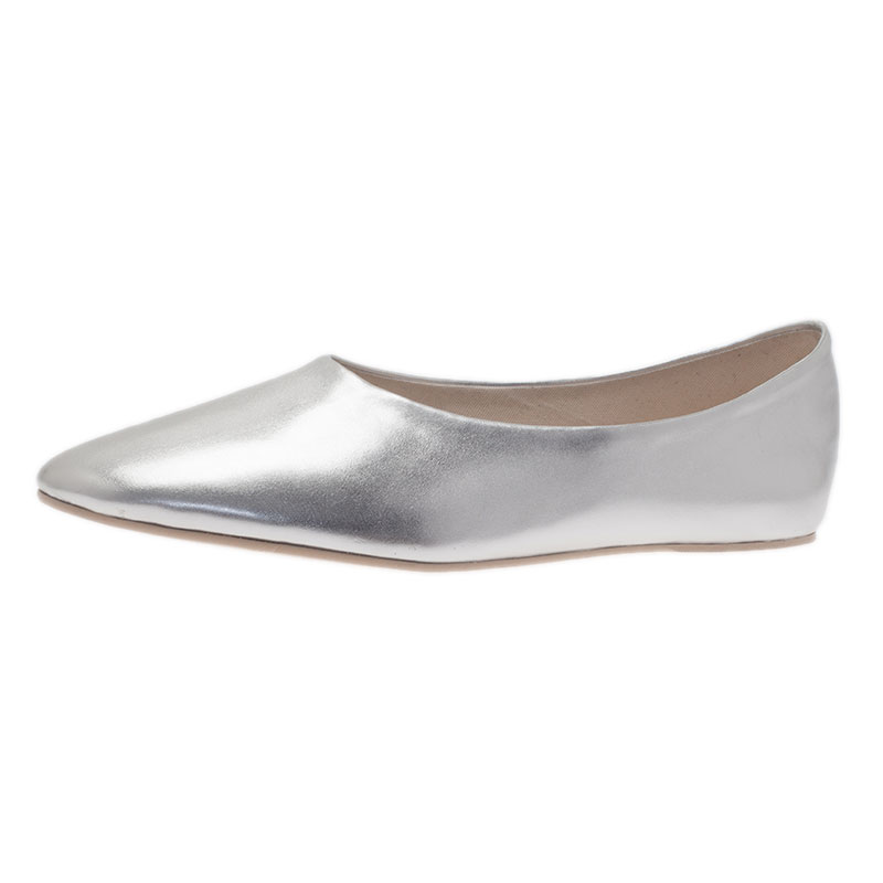 Stella McCartney Silver Loafers Size 41