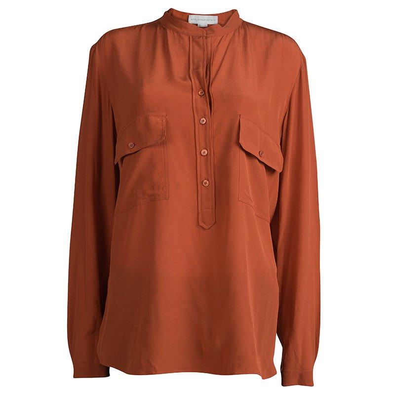 7675f56d3540f ... Stella McCartney Brick Orange Long Sleeve Silk Blouse L. nextprev.  prevnext