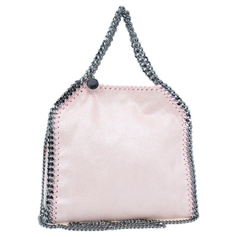 23ef05b32be9 ... Stella McCartney Metallic Pink Faux Leather Mini Falabella Tote Bag.  nextprev. prevnext