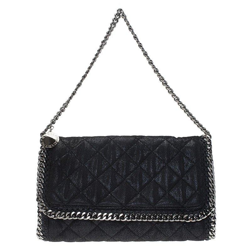 63f9204312d2 ... Stella McCartney Black Quilted Faux Leather Falabella Shaggy Deer Flap  Bag. nextprev. prevnext