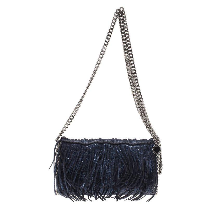 3981d1db2ae0 ... Stella McCartney Metallic Blue Faux Leather Falabella Crossbody Bag.  nextprev. prevnext