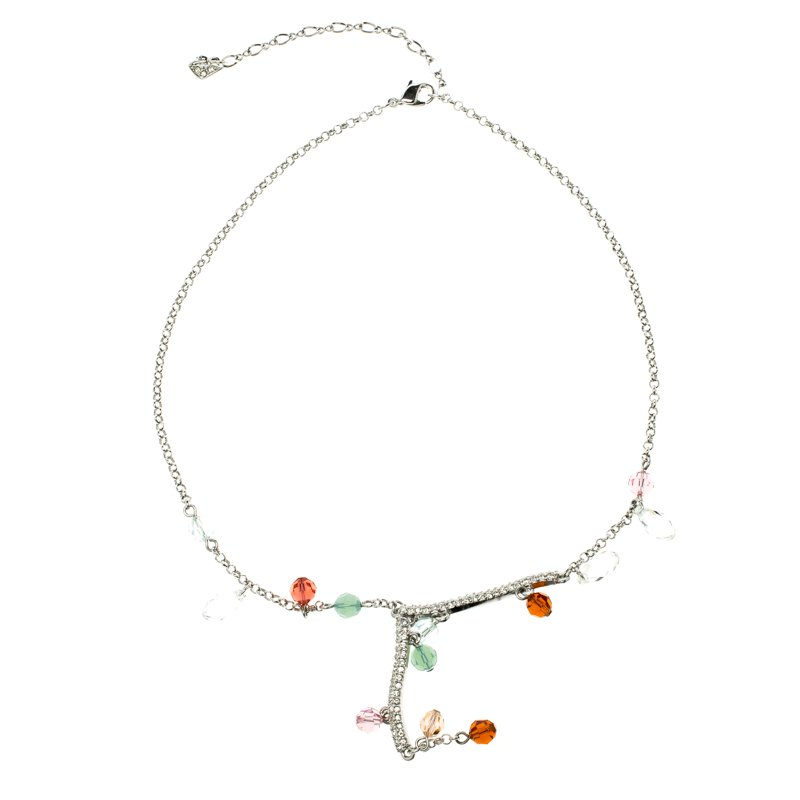 Swarovski Briolette Crystal Silver Tone Necklace