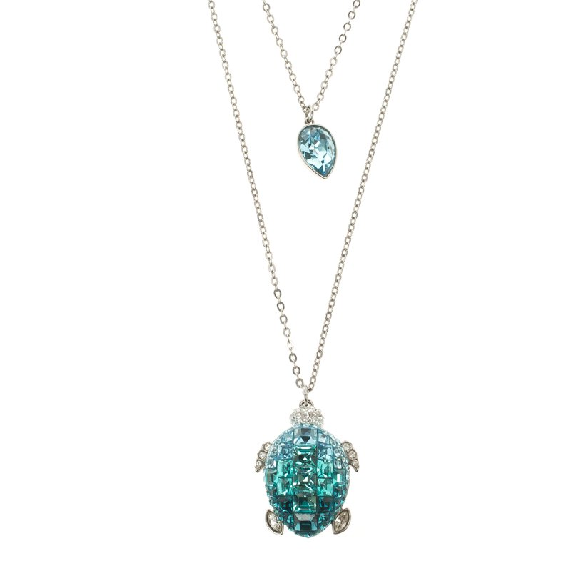 2d0386b21 Buy Swarovski Blue Crystal Turtle Pendant Layered Necklace 106348 at ...