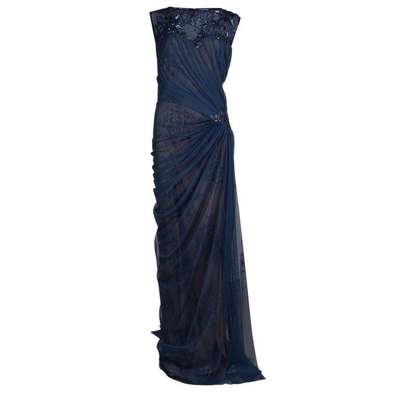 93f929ba9 إشتري فستان سهرة تداشي شوجي دانتيل تول أزرق كحلي XL 72975 بأفضل ...