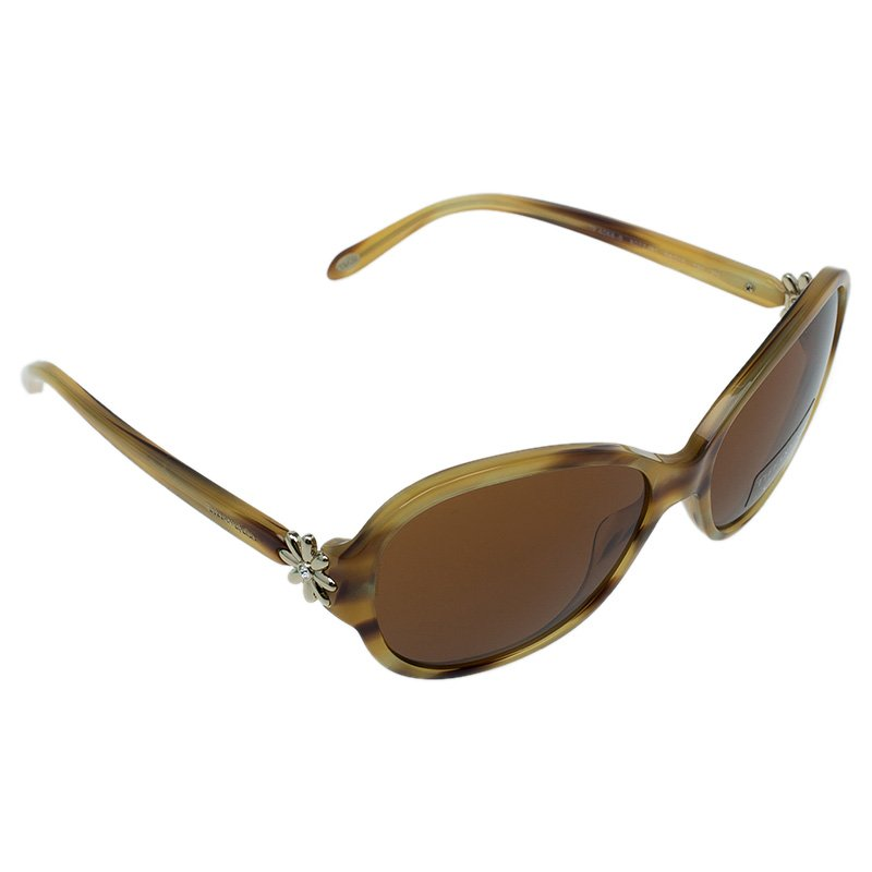 Tiffany & Co. Brown 4068 Butterfly Wrap Sunglasses