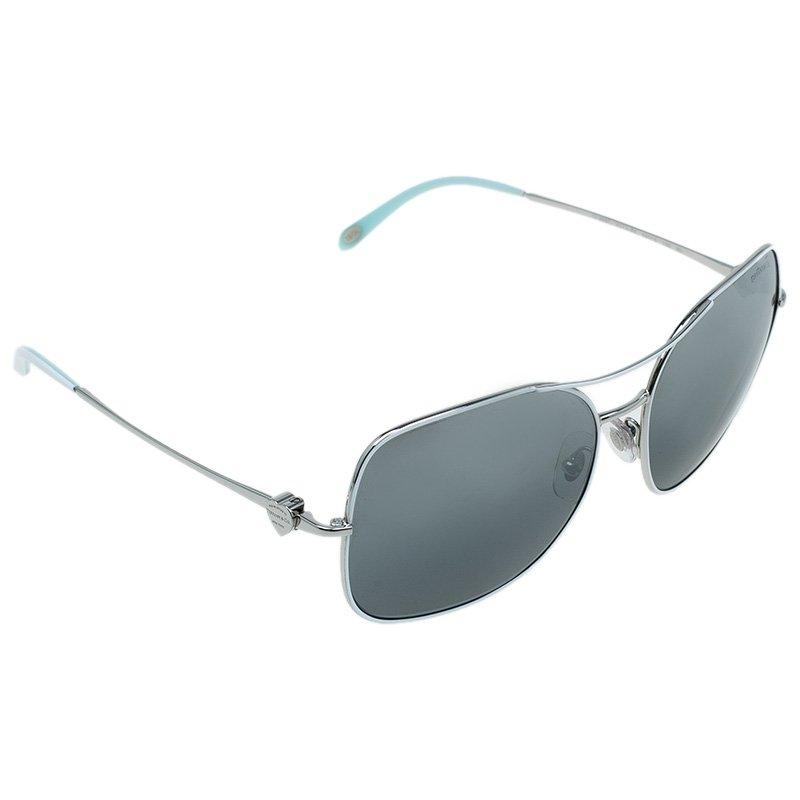 Tiffany & Co. Silver 3037 Aviator Sunglasses